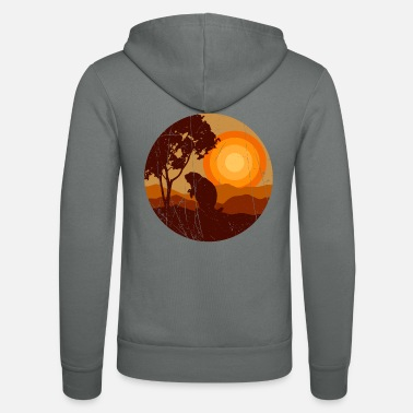 Picture Bieber in the sunset in the nature - Unisex Zip Hoodie