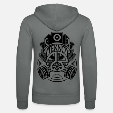 Gas Mask Tekno 23 gas mask - Unisex Zip Hoodie