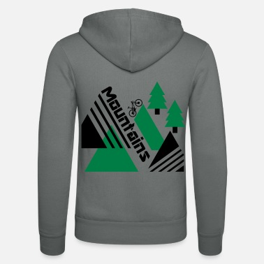 Bike Mountain bike mountains - Unisex Zip Hoodie