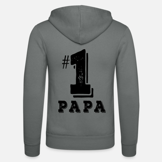 Ascension Sweat-shirts - Daddy No. 1 - Chemise de fête des pères - Veste à capuche unisexe gris
