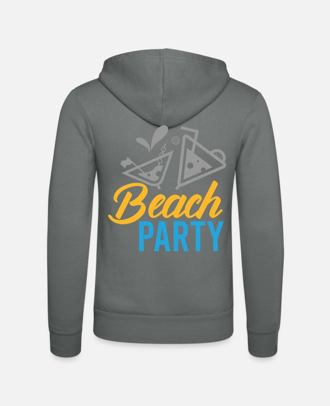 Disco Hoodies & Sweatshirts - Holiday - Shirt Party Beach Gift - Unisex Zip Hoodie grey