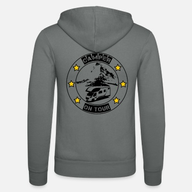 Camper on tour - gift idea for motorhome campers - Unisex Zip Hoodie