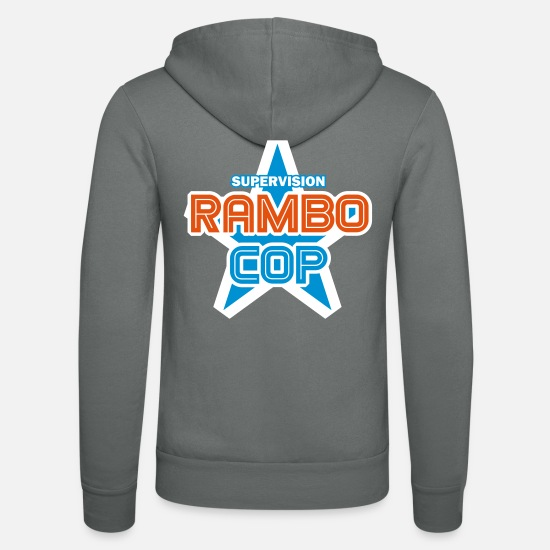 Usa Pullover & Hoodies - Rambo-Cop (Fiction-Hero) - Unisex Kapuzenjacke Grau