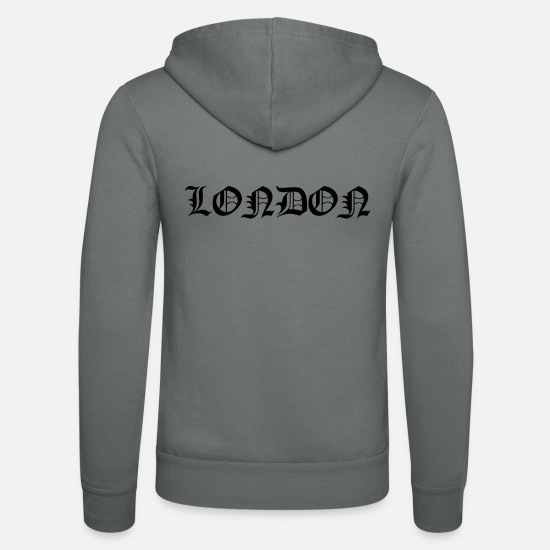 London Hoodies & Sweatshirts - London - Unisex Zip Hoodie grey