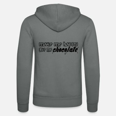 make me happy give me chocolate T-Shirts - Unisex Kapuzenjacke