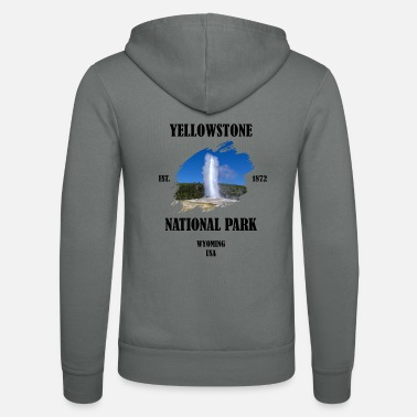 Geyser Yellowstone National Park Wyoming USA Geyser - Unisex Zip Hoodie