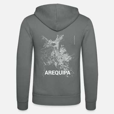 Arequipa Arequipa city map and streets - Unisex Zip Hoodie