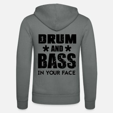 Drum n Bass Music - Bluza rozpinana z kapturem unisex
