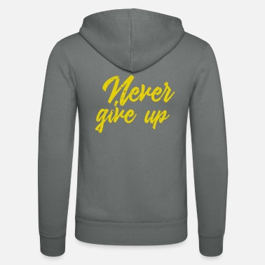 Calm Never give up vintage - Unisex Zip Hoodie