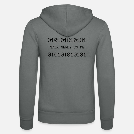Gift Idea Hoodies & Sweatshirts - Nerdy - Unisex Zip Hoodie grey