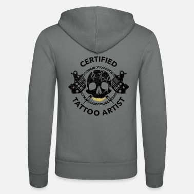 Bodyart Tattoo Certified Tattoo Artist Tattooist Gift - Unisex Zip Hoodie