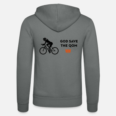 female cyclist save the q - Unisex Kapuzenjacke