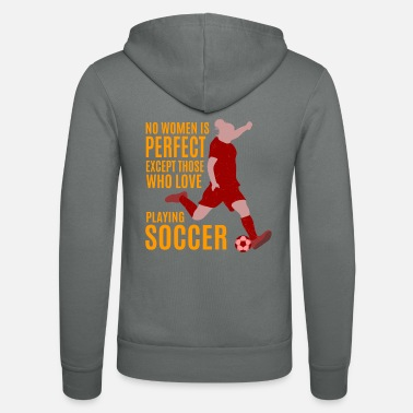 Soccer Soccer for Women - Soccer Game Playing Soccer - Unisex Zip Hoodie