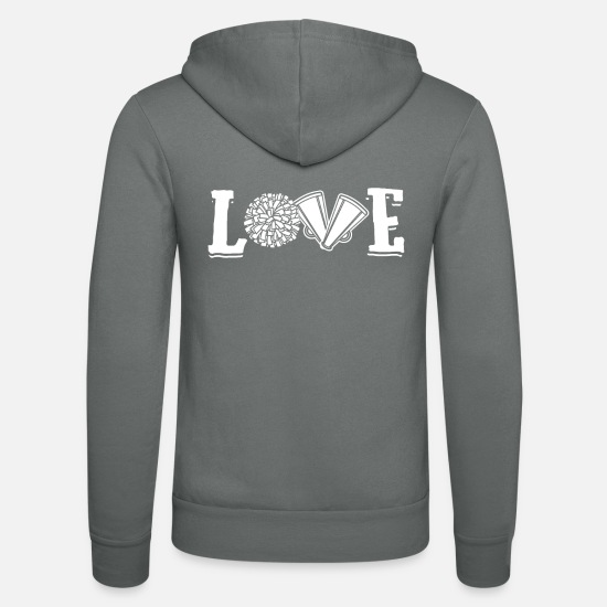 Gymnastik Pullover & Hoodies - Love Cheerleader Cheerleading Sports Gift - Unisex Kapuzenjacke Grau