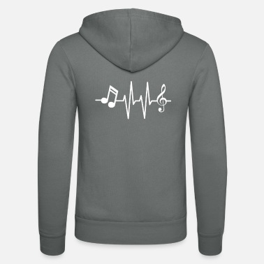Sheet music Heartbeat / Heartbeat / Musician Music - Unisex Hooded Jacket by Bella + Canvas