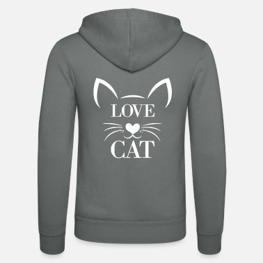 Designs Cats Design: Love cat - Unisex Zip Hoodie