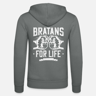 Rap bratans forever russian brother - Unisex Zip Hoodie