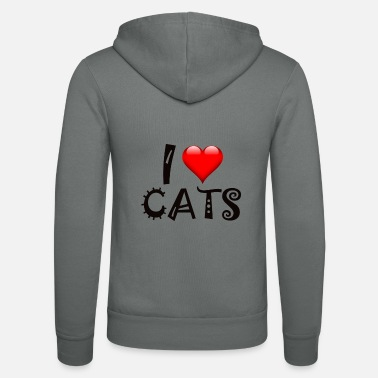 Design I love cat design cat - Unisex Zip Hoodie