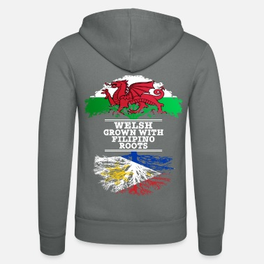 Filipino Welsh Grown With Filipino Roots - Unisex Hooded Jacket by Bella + Canvas