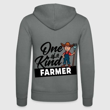 Proud Farmer - One of a kind - Unisex Hooded Jacket by Bella + Canvas