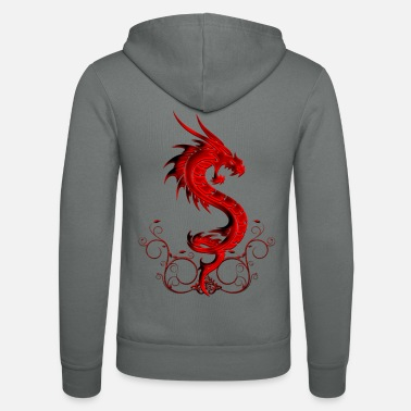 Red wonderful red chinese dragon - Unisex Zip Hoodie