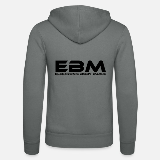 Electronic Music Hoodies & Sweatshirts - EBM Electronic Body Music - Unisex Zip Hoodie grey