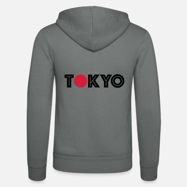 Japan Tokyo shirt with red dot - Unisex Zip Hoodie