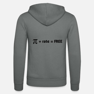 Maths Pi rate = Free - Unisex Zip Hoodie