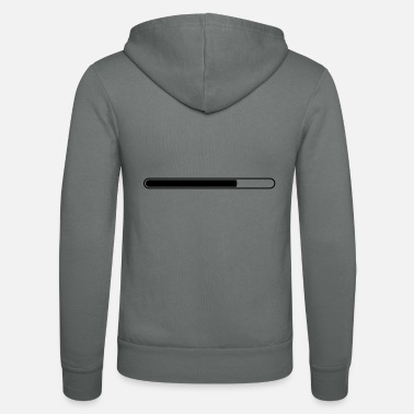Status Bar Loading bar status bar progress - Unisex Zip Hoodie