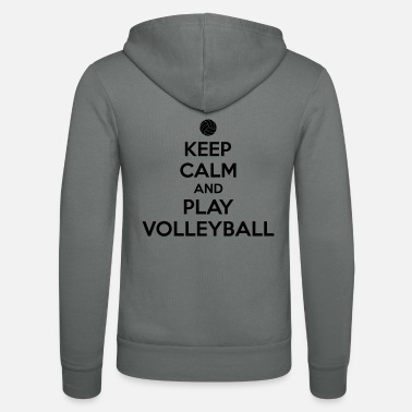 Handball Keep calm and play volleyball - Unisex Kapuzenjacke