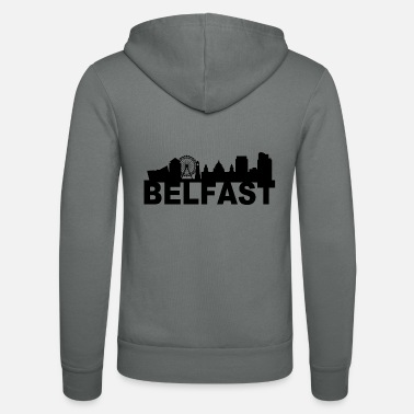 Belfast Belfast Northern Ireland Skyline Gift Idea UK - Unisex Zip Hoodie