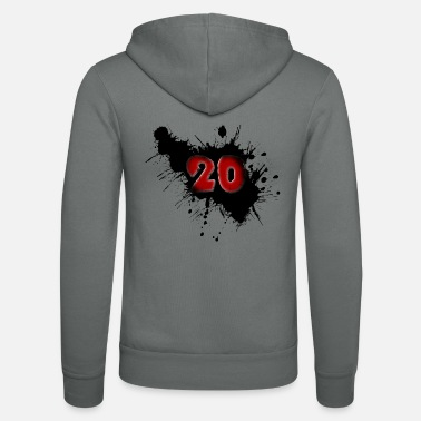 Date Of Birth Date of birth 20 years - Unisex Zip Hoodie