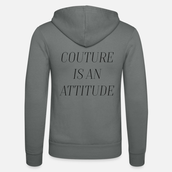 Typography Hoodies & Sweatshirts - Couture is an attitude - typography - Unisex Zip Hoodie grey