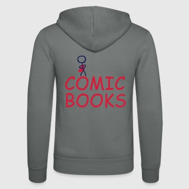 comic books - Unisex Hooded Jacket by Bella + Canvas