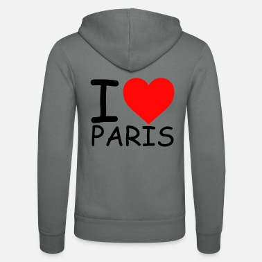 I Love Paris I Love Paris libe Paris Love Paris Herz Paris - Veste à capuche unisexe Bella + Canvas