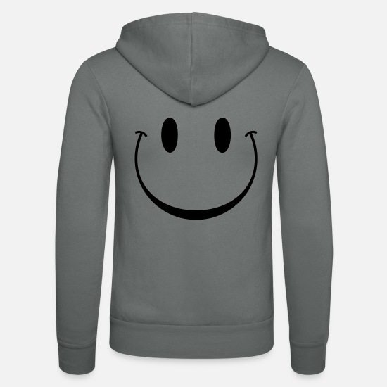 Fortunate Friendly Smiling Trance Winter Child Hoodies & Sweatshirts - face funny smile smiley - Unisex Zip Hoodie grey