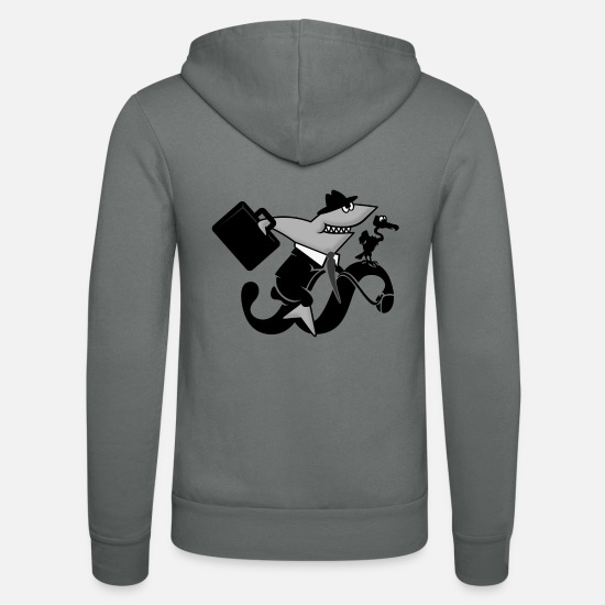 Shark Hoodies & Sweatshirts - Paragraph Rider - Shark Law Rider (DDP) - Unisex Zip Hoodie grey
