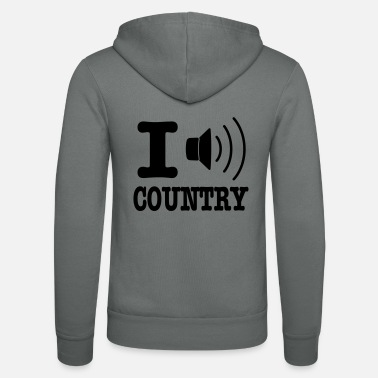 Country I music country / I love country - Zip hoodie unisex