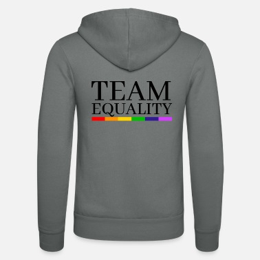 Equality Team Equality LGBT Rainbow - Unisex Hooded Jacket by Bella + Canvas