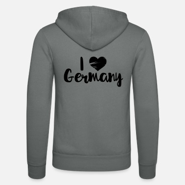 I Love Germany I love Germany - Chaqueta con capucha unisex