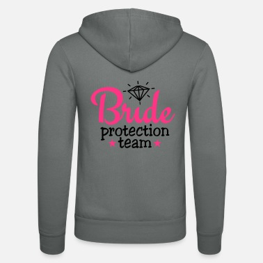 Brud bride protection team 2c / bride security - Unisex Zip Hoodie