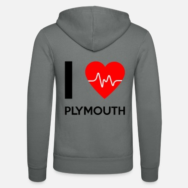 Plymouth I Love Plymouth - I love Plymouth - Unisex Zip Hoodie
