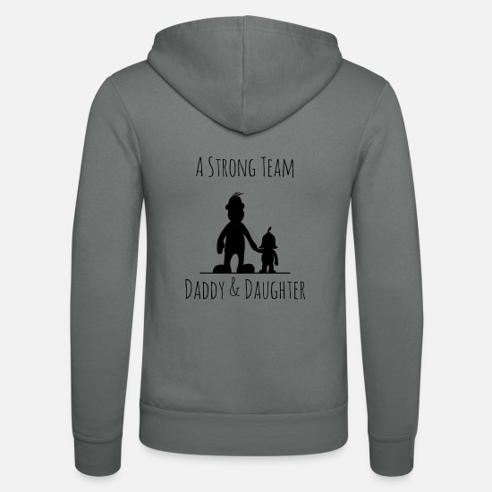Strong Pullover & Hoodies - A strong Team - Daddy & Daughter - Unisex Kapuzenjacke Grau