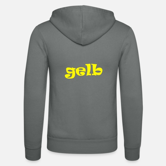 Gift Idea Hoodies & Sweatshirts - yellow yellow color - Unisex Zip Hoodie grey