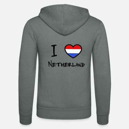 Netherlands Hoodies & Sweatshirts - Netherlands - Unisex Zip Hoodie grey