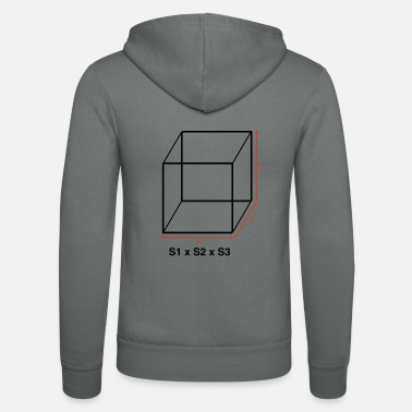 The volume of a cube - Unisex Zip Hoodie