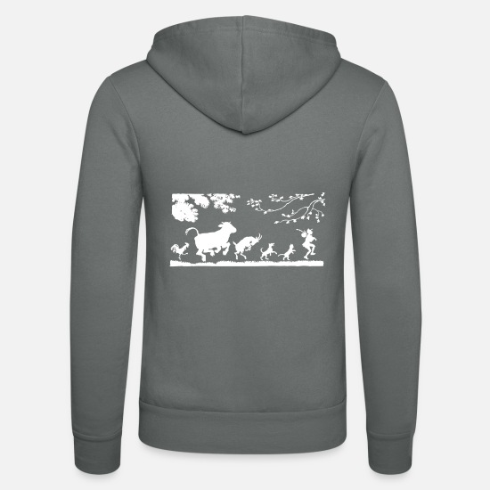 Donkey Hoodies & Sweatshirts - animals - Unisex Zip Hoodie grey