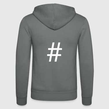 # Hashtag - Unisex Hooded Jacket by Bella + Canvas