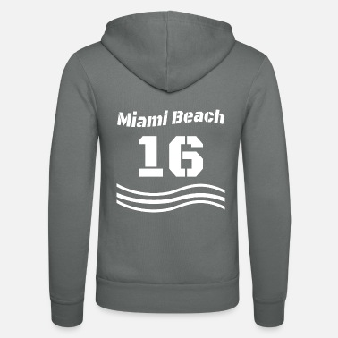 Baseball Number 16 Miami Beach - Unisex Zip Hoodie