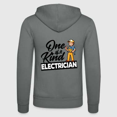 Proud Electrician - One of a kind - Unisex Hooded Jacket by Bella + Canvas